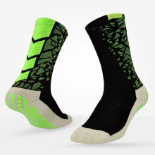 Men Non Slip Soccer Sports Crew Socks Professional Athletic Cycling And Basketball Socks With Anti Skid Gel