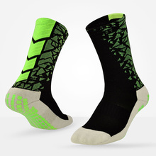 Men Non Slip Soccer Sports Socks Professional Athletic Cycling And Basketball Socks With Anti Skid Gel Socks(China)