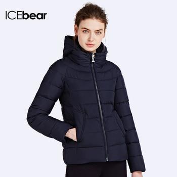ICEbear 2016Пуховик для холодных дней Короткая стильная куртка Парки для женщин зимой Пуховик с съёмным капюшоном 16G687