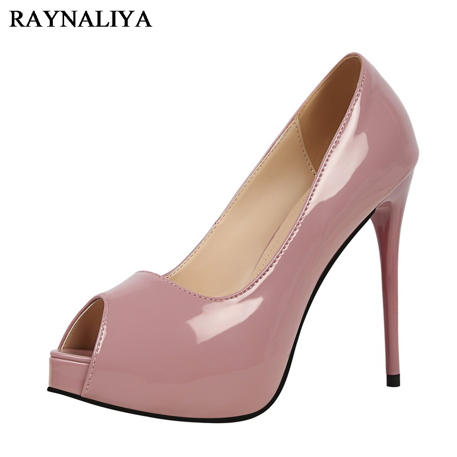 2017 Summer Shoes Woman Sweet Fashion Women Party Wedding Peep Toe Platform Thin High Heel Pumps Ladies Shoes DS-A0048<br>