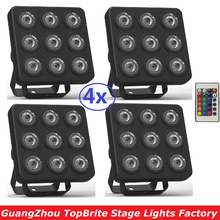 2017 Mini Led Par Light Flat Led Panel Show Stage Effect Lights 9x4W 4in1 RGBW RGBUV DJ Disco DMX Led Beam Wash Strobe Lighting(China)