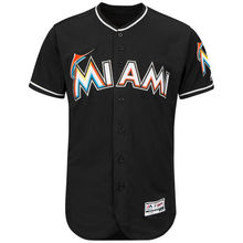 MLB Miami Marlins Baseball Home White Flex Base Authentic Collection Team Jersey(China)
