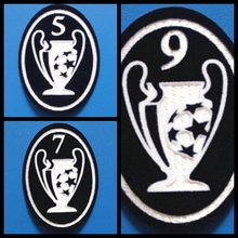 New Retro champions league 5 7 9 time cup patch football Print patches badges,Soccer Hot stamping Patch Badges(China)