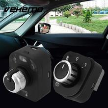 Vehemo Auto Car Vehicle Door Side Rearview Mirror Control Knob Switch Fit For Audi A4 B6 B7 Foldable