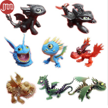 New 8pcs How to Train Your Dragon 2 Toy Night Fury Toothless Dragon Plastic Action Figure Cartoon Doll Anime Juguetes Brinquedos