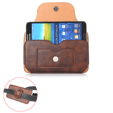 "Multifunction Magnetic Horizontal Hook Loop Belt Pouch Bags Wallet Leather Case For xiaomi mi5 note 2 note3 pro 5.5"" Below Cover"