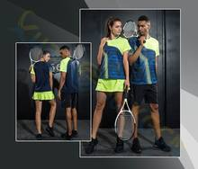 sportswear Men badminton 1 shirt 1 shorts skirt Jersey Sets sport Tracksuits Uniforms kits women tennis training jerseys(China)