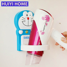 Huiyi Home Cartoon Hair Dryer Rack For Bathroom Organizer 2 Styles Paste Hairdryer Storage Holder Accessories EGN308
