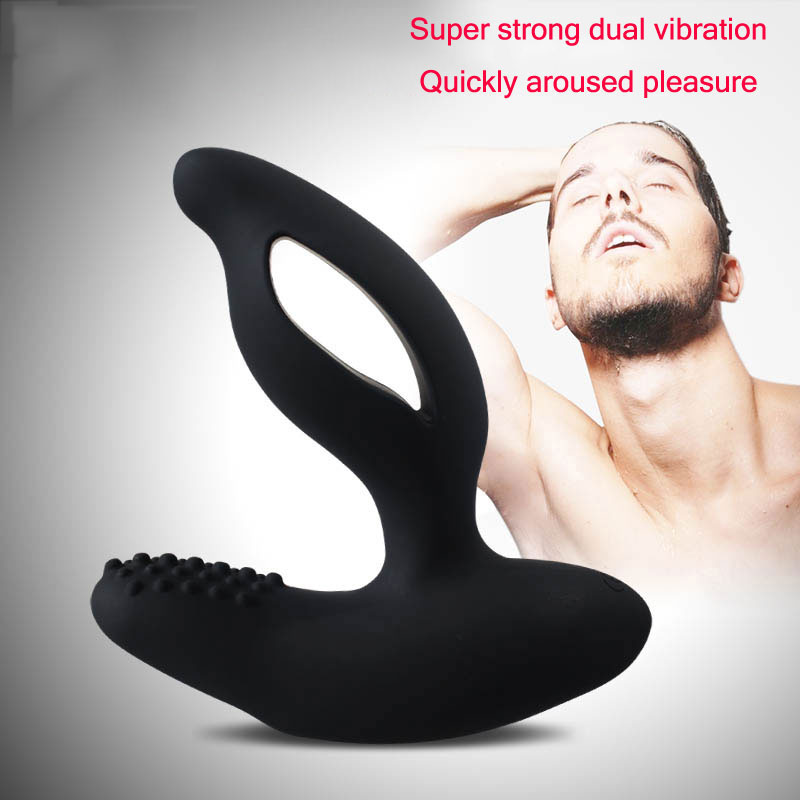 Anal Butt Plug Sex Toys for Men Gay 11 Speed Vibrating Prostate Massager G Spot Stimulator Dual Motor Wireless Control Products<br>