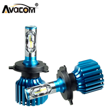 Buy Avacom H4 Car LED Headlight Bulb H1 H7 H11 H15 9005 9006 9012 Car Headlight 72W 12000LM 6500K 12V Car Accessories Auto Headlamp for $19.91 in AliExpress store