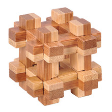 Chinese Traditional Toys Kong Ming Luban Lock 3D Handmade Wooden Toy Adults Puzzle Brain Teaser Game for Early Education