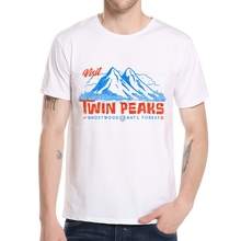 Top Designing Cool Twin Peaks American TV Show T Shirt Homme Short Sleeve Soft Men Tee Shirt Streetwear Best Design Man K10-5#(China)