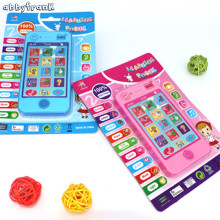 Abbyfrank 2 Colors Russian Language Children Cell Phone Simulation Story Musical Machines Educational phone Brinquedo Educativo