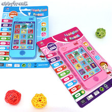 Abbyfrank 2 Colors Russian Language Children Cell Phone Simulation Story Musical Machines Educational phone Brinquedo Educativo(China)