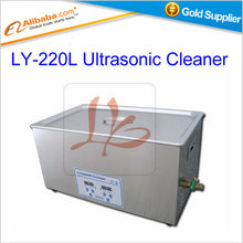 Free shipping Ultrasonic Cleaner LY-220L 400W 22L Digital ultrasonic cleaning machine with cleaning basket(China)