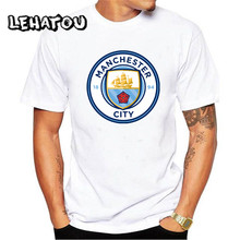 2017 white manchester city t shirts O-Neck Tops Casual short Men Tees Modal Cotton cloth good quality t-shirts Print Clothing(China)