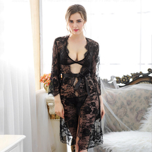 Exotic Dresses Sexy Lingerie Style Ladies Robes Night Gown Nightwear Sexy Underwear sex Long Dress free shipping(China)