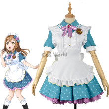 LoveLive!Sunshine!! Kunikida Hanamaru Valentine's day Maid Apron Dress Uniform Outfit Anime Cosplay Costumes
