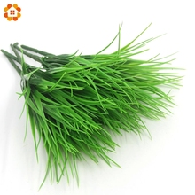 1PCS New Green Grass Artificial Plants For Plastic Flowers For Office Hotel / Home Wedding Party Dining Table Decoration(China)