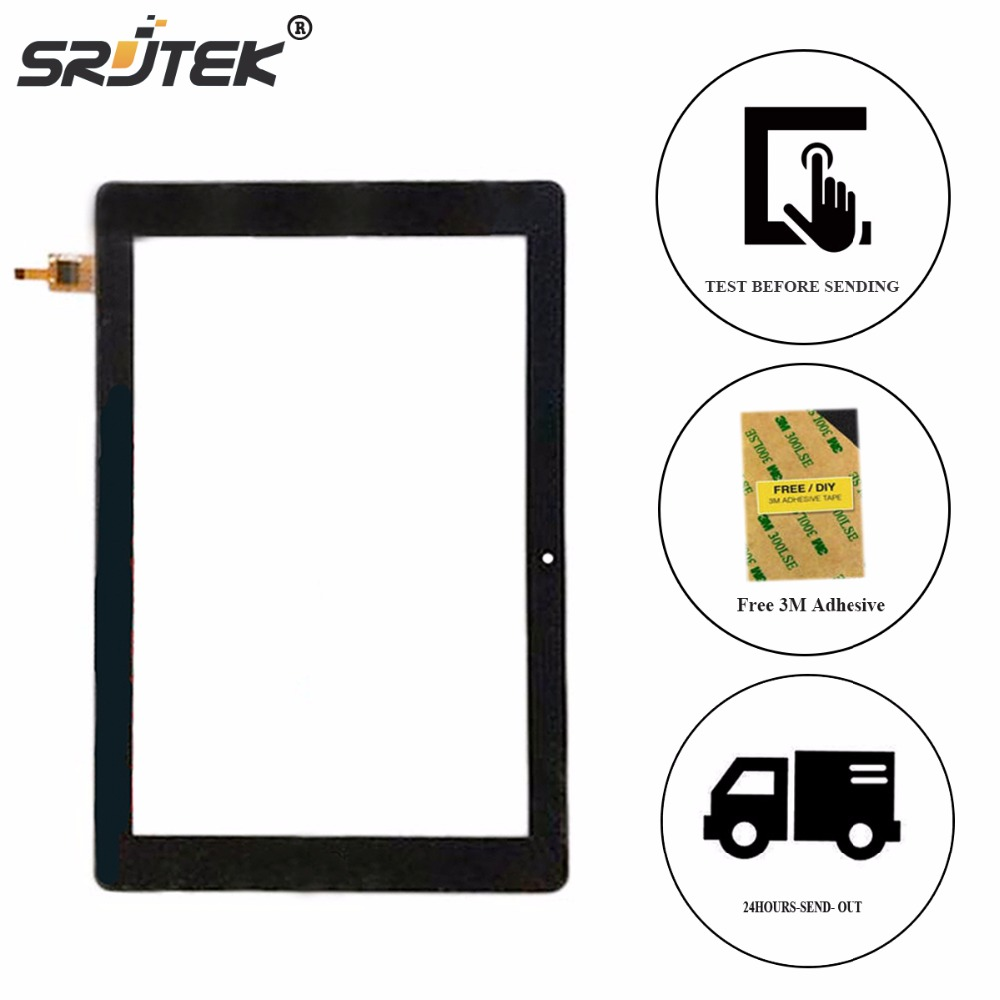 Srjtek New 10.1 For FPC-10A24-V03 ZJX Touch Screen Digitizer Sensor Replacement Glass Sensor Parts<br>