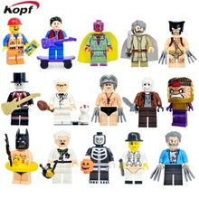 Building Blocks Star Wars Luke Skywalker Vision Wolverine Modok Monsters Skeleton Guy Super Heroes Bricks Childen Gift Toys - Minifigures store