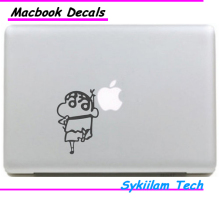 Crayon Shin chan Cartoon Peanut Sticker for apple Macbook Skin Air 11 13 Pro 13 15 17 Retina Decal Laptop Auto Wall Vinyl Logo