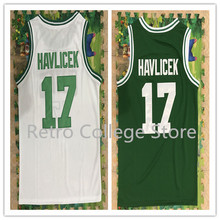 Retro College 17 John Havlicek Retro throwback Embroidery stitch Basketball Jerseys Sports Shirt College Jersey(China)