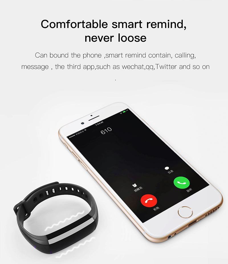 Fitness bracelet Heart Rate Monitor smart bracelet watches blood pressure activity tracker pk for IOS Android mi band 2 fitbit 9