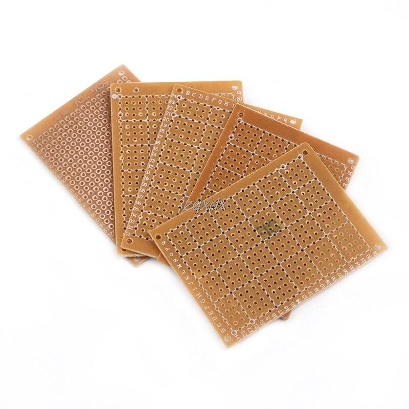 5 Pcs Electronic Parts DIY PCB Board Prototyping Copper Veroboard 5cm x 7cm