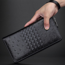 The 2017 Men's Wallet Male Cow Leather Money Chuck Cowhide Ostrich Leather Fashion Business