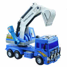 Large inertia model toy car was excavator truck children can rotate 360(China)