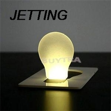 JETTING New Design Portable Hot Sale Cute Portable Pocket Fold switch LED Card Night Lamp Put In Purse Wallet Convenient Light(China)