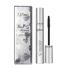Qibest 3D Black Mascara Waterproof Lengthening Curling Eye Lashes Rimel Mascara Silicone Women Professional Makeup Bushy Mascara(China)
