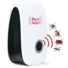 Electronic Ultrasonic Pest Repeller Indoor Anti Pest Bug Control Repeller Rat Mosquito Killer Bug Reject EU US AU Plug(China)