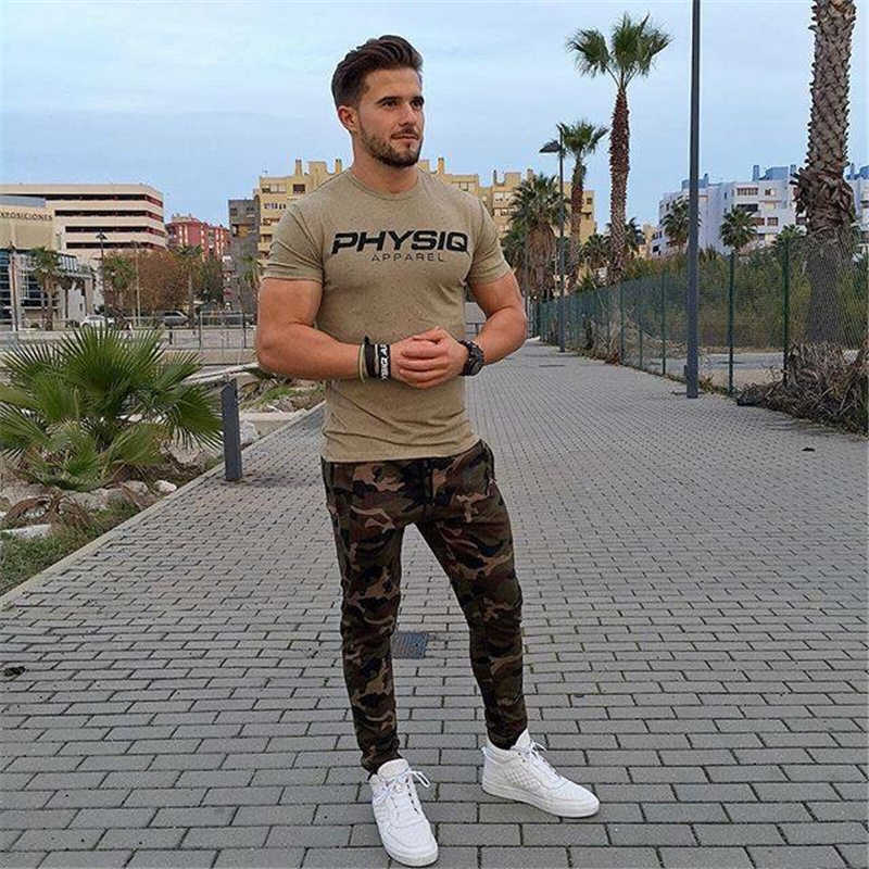 GYMOHYEAH NEW pants Men's High quality workout bodybuilding clothing casual camouflage sweatpants joggers pants skinny trousers 10