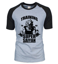 Adult Anime Dragon Ball Super Saiyan t shirt 2016 new summer 100% cotton high quality raglan men t-shirt casual top tees S-2XL