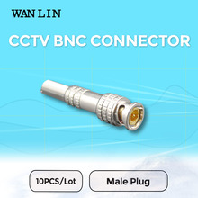 WANLIN 10pcs CCTV BNC Connector Solder Less Twist Spring BNC Connector Jack for Surveillance Accessories