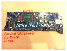 For Dell XPS 13 9343 Laptop motherboard LA-B441P mainboard i5 CPU 100% working Free Shipping