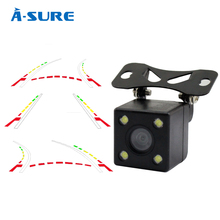 A-Sure Advanced Dynamic Parking Track Rear View Reversing CCD Camera HD 170 Degree Night vision Waterproof Dust-proof(Hong Kong)