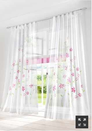 1 piece New small flowers rustic curtain for home window screening,decoration voile window curtains pink,purple,yellow