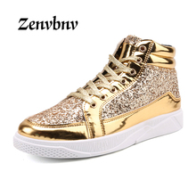 Buy ZENVBNV Casual shoes men 2018 High fashion men casual shoes brand gold platform men shoes sneakers mens flats Moccasins for $24.17 in AliExpress store