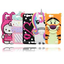 Soft Rubber Case For Huawei G7 Hello Kitty Cupcakes Lis Unicorn Bunny Tiger 3D Phone Cases Cover For Huawei Ascend G7
