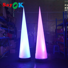 hot sale advertising Inflatable led cone with color-changing led light for wedding party decorations