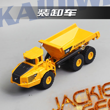Hot sale 1pc 1:87 13cm Cadeve mini engineering transport dump truck simulation model alloy car home decoration children gift toy