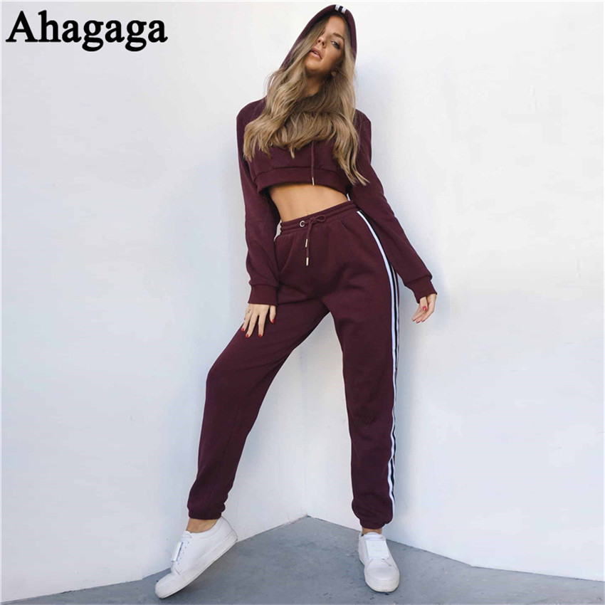 Women's Tracksuits Set, Casual Hooded Sweatsuit Set 30