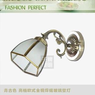 Bronze color copper solder glass wall lamp bedroom wall lamp fashion wall lamp classical wall lamp w-5007<br><br>Aliexpress