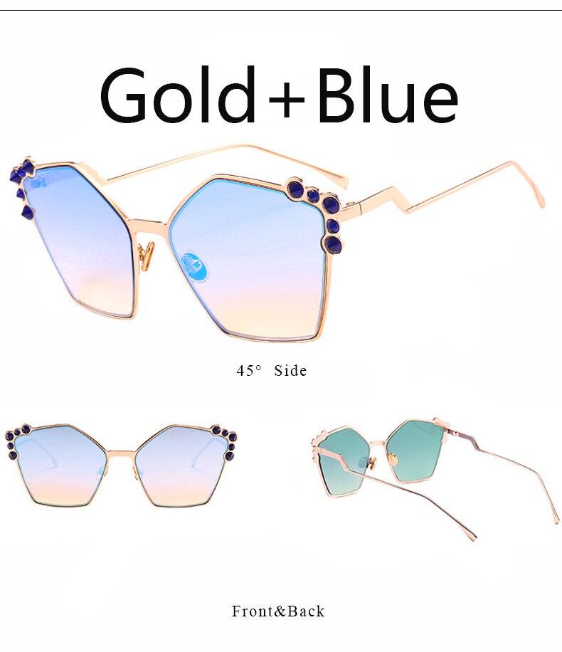 Irregular Cat Eye Sunglasses Women Brand Designer Ladies Sun Glasses CatEye Vintage Crystal Pink Sun Glasses Female Eyewear 2018
