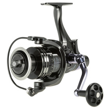 Front And Rear Double Drag System 11+1BB Spinning Metal Fishing Reel 5000/6000 Aluminium Spool Dual Brake Wheel Gear Ratio 5.1:1