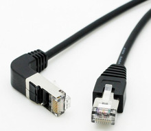 90 Degree Angle RJ45 CAT5e Male to Male M/M Extension LAN Network Ethernet Cable 50cm