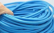 6meter hot-selling lamp part of textile fabric wire in blue color